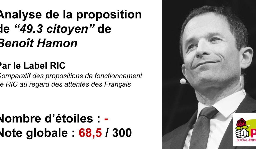 Analyse du RIC du Parti Socialiste (Hamon)