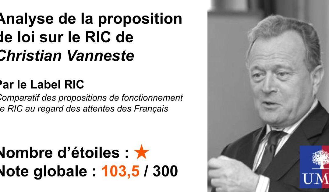 Analyse du RIC de l'UMP (Christian Vanneste)