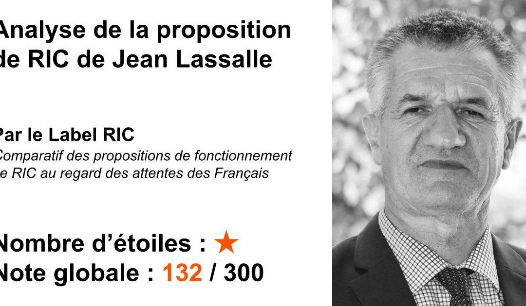 Analyse du RIC de Jean Lassalle (2021)